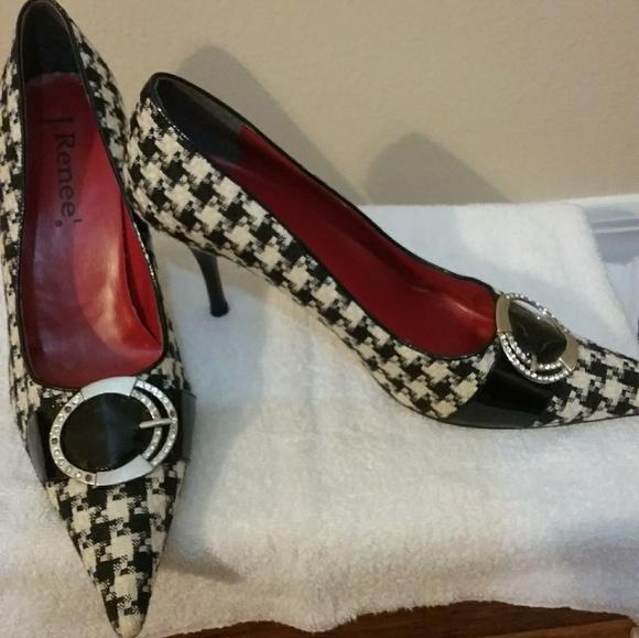 1cf3425de5e J.Renee Shoes - SZ 8.5 J. Renee Checkerboard Black and White Shoes